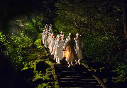yamabushi mountain monks on mount haguro.