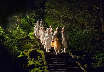 yamabushi mountain monks on mount haguro.
