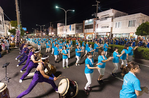 The sakata city dance festival