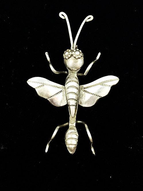 Silver Wasp Pin