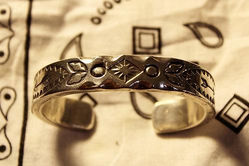 Heavy Ingot Silver Cuff Bracelet