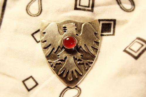 Carnilian Griffin Shield Pin
