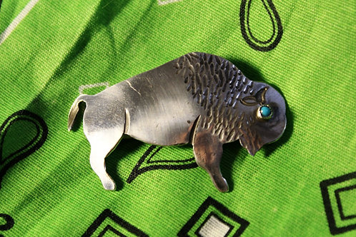 Silver Buffalo Pin