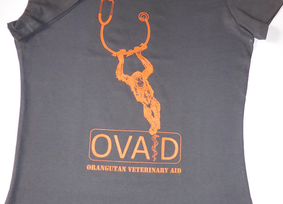 OVAID Ladies s/s T shirt 'Kiki' design Dark Grey