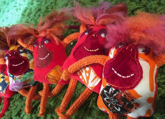 Orangutan Fabric Keyrings