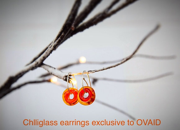 """'Roly Poly"""" Glass Earrings"""