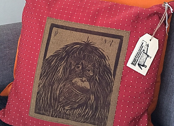 Orangutan Print Cushion