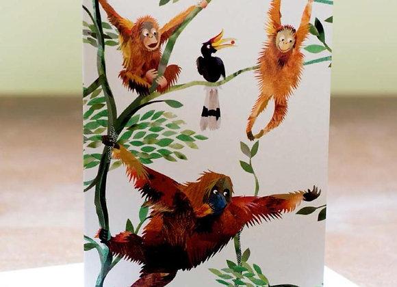 Orangutan Greetings Card