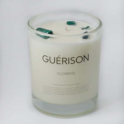 MOONSTONE CANDLE SCORPIO - GUERISON