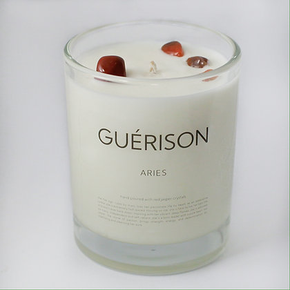 MOONSTONE CANDLE ARIES - GUERISON