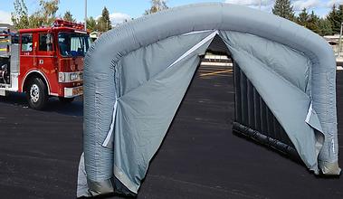 Inflatable EMS with fabric door zipper.t