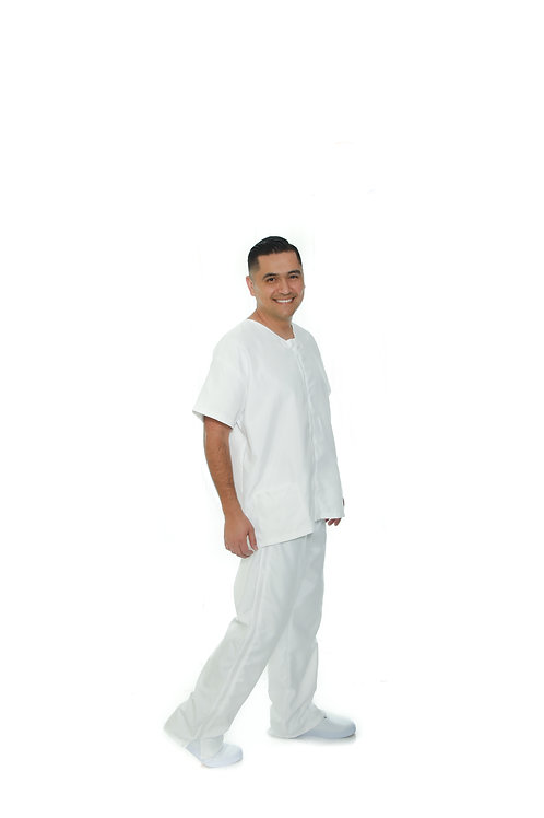 Antimicrobial Level 1 PPE Men's Set WHITE