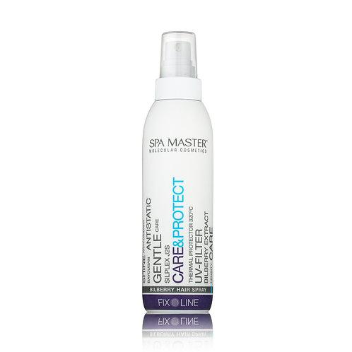 Спрей для защиты волос 320С°  pH 4.0 с черникой, касторовым маслом и Baycusan®