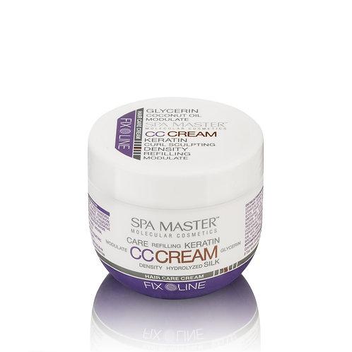 Уплотняющий крем для волос с кератином и кокосовым маслом средней фиксации.