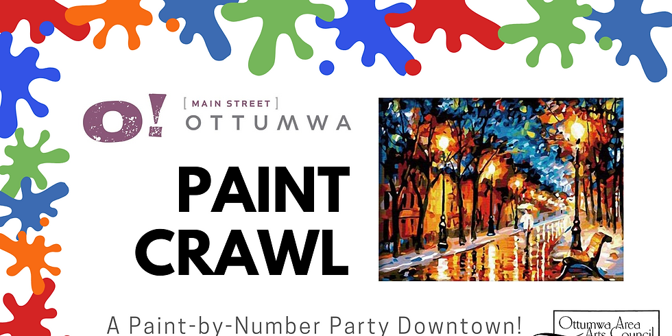 Main Street Paint Crawl: A paint-by-number party