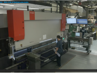 Inside Laitram Machinery - State-of-the-art Bystronic press brakes.