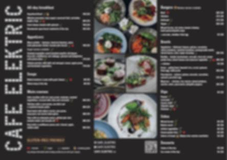 CAFE ELEKTRIC menu a la carte CZ EN 1510