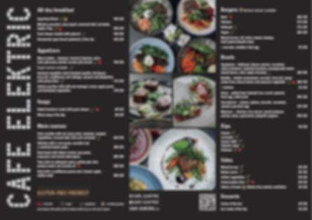 CAFE ELEKTRIC menu a la carte CZ EN 1510