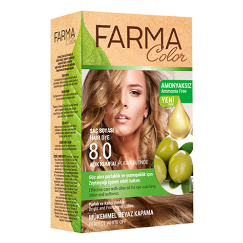 FARMACOLOR SAÇ BOYASI 8.0 AÇIK KUMRAL