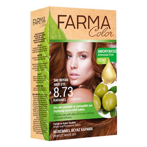 FARMACOLOR SAÇ BOYASI 8.73 KARAMEL