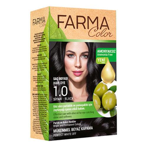FARMACOLOR SAÇ BOYASI 1.0 SİYAH