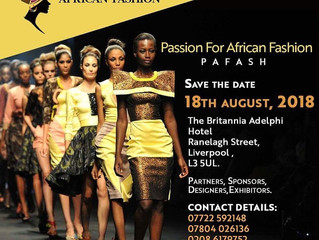Passion For African fashion PAFASH 2018 Liverpool