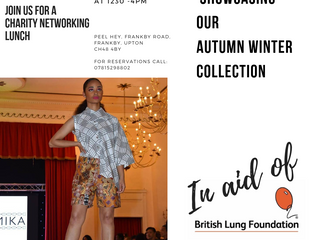 Tayamika showcasing our Autumn Winter Collection in Aid of British Lung Foundation