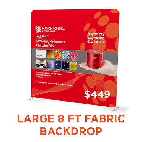 Large Fabric Display 8 ft