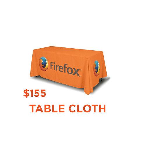 Custom Table Cloth 8 ft
