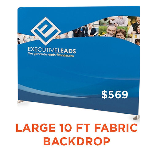 Large Fabric Display 10 ft