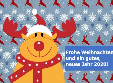 Frohe Weihnachten und ein gutes, gesundes Jahr 2020!