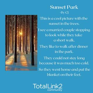 CJ Sunset Park Poem