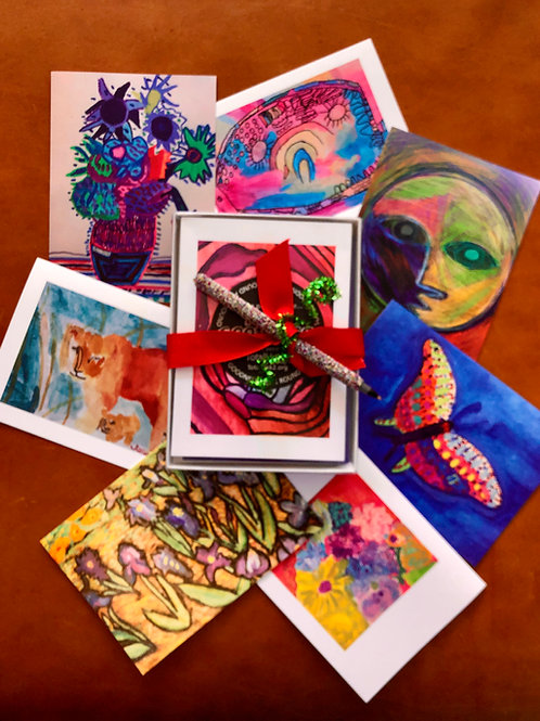 ArtLab Note Cards with Sparkle Pen