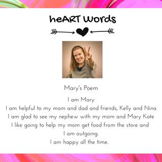 """Mary """"I Am"""" Poem"""