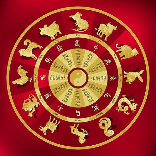 Astrological 4-Pillar Chart w/Autumn