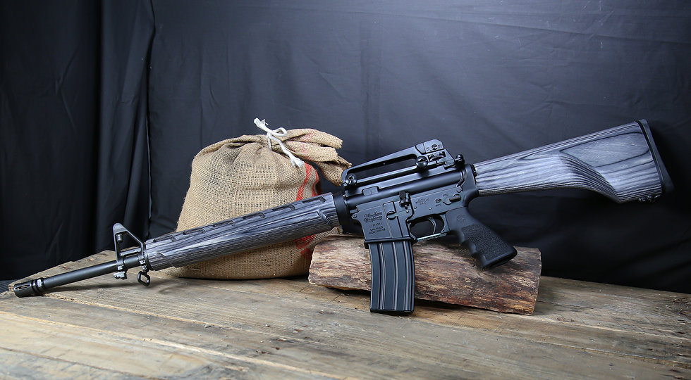 Windham Weaponry 20GVT Rifle with Smokey Wood Stock & Handguard