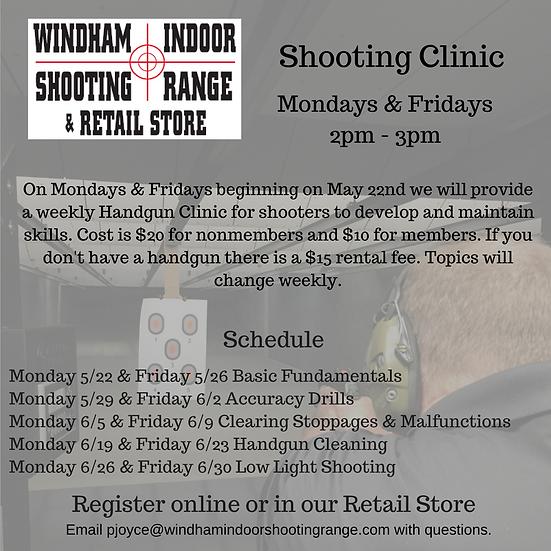Handgun Shooting Clinic