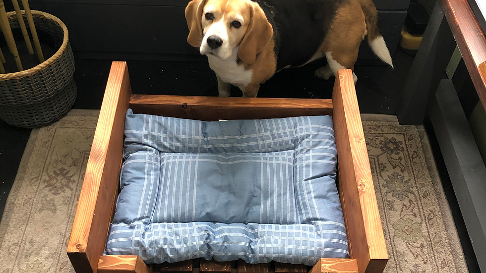 Large Solid Wood Dog Bed