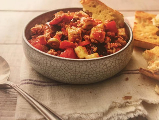 Dinner Recipes: Sicilian Eggplan Stew with Pork