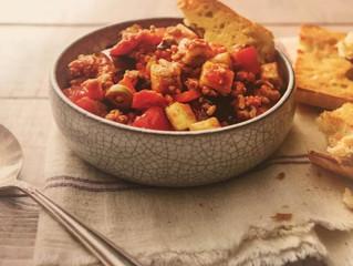Dinner Recipes: Sicilian Eggplan Stew with Pork