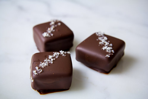 8pc. Chocolate Dipped Sea Salt Caramels