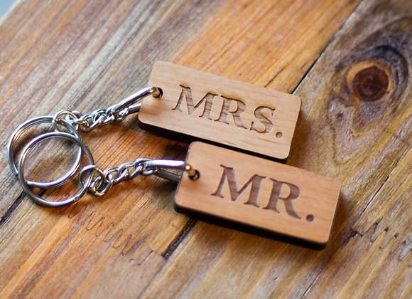 SET OF 2-MR. & MRS. KEYCHAINS