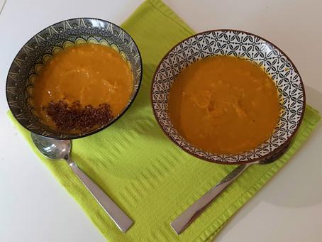 Σούπα με γλυκοπατάτα και κουρκουμά