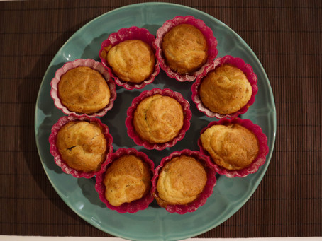 Light αλμυρά muffins με ζεμύθα και γαλοπούλα