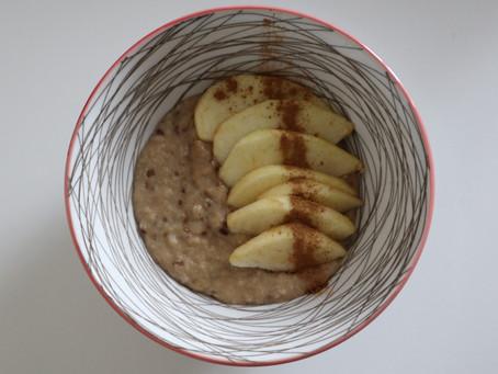 Κρέμα βρώμης με μήλο