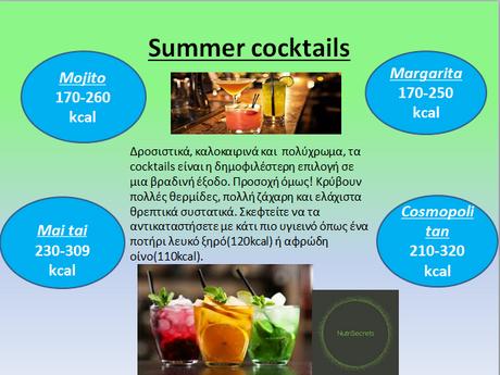 Καλοκαιρινά Cocktails και Θερμίδες