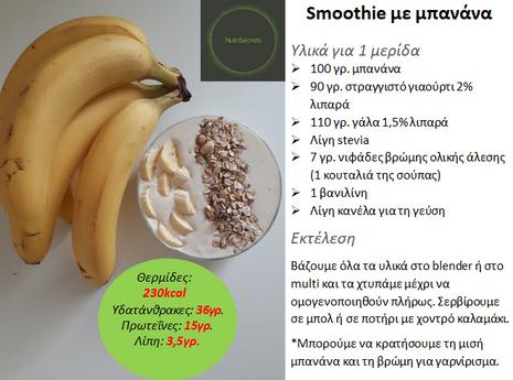 Smoothie με μπανάνα