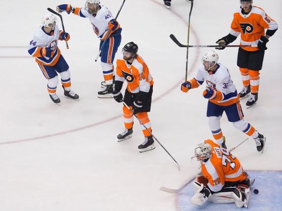 FFR2 Round 2, Game 1 - NYI 4, PHI 0: Stranded