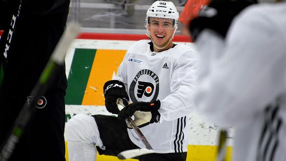 Flyers Promote Morgan Frost to NHL; Twarynski Returned to Phantoms