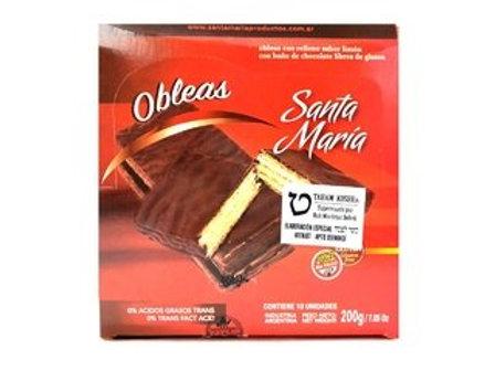 OBLEAS BANADAS CON CHOCOLATE SANTA MARIA